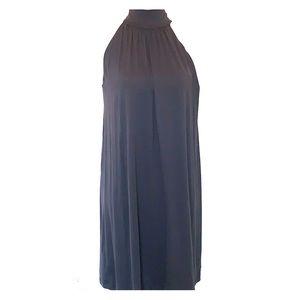 Susana Monaco gray high neck nylon dress Small
